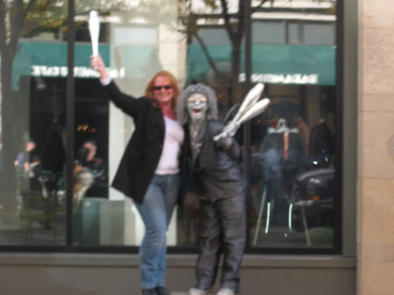 Michelle Spalding on the streets in Downtown Denver Colorado