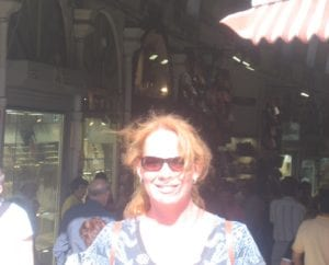 Michelle at Bazar, Istanbul Turkey