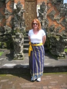 Michelle Spalding at a Bali Temple